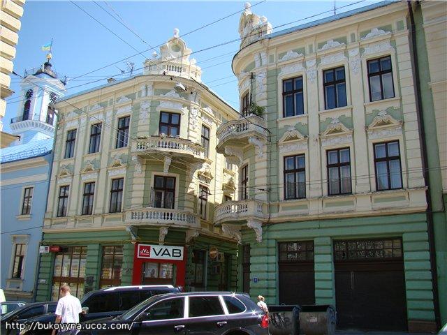 Twin buildings in Chernivtsi (Czernowitz); Дома-близнецы в Черновцах; Будинки-близнюки у Чернівцях